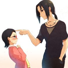 Yes, because my heart wasn't already shattered enough.  Uncle Itachi doing the same forehead poke to Sarada that he did to Sasuke. #naruto