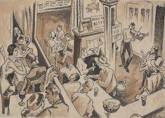 ART & ARTISTS: Thomas Hart Benton - part 4 WWII American Realism, American Artists, Anton, Submarine Museum, Grant Wood, Bar, Printmaking, Wwii, Illustrators