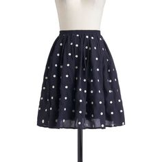 Give It Your Best Dot Skirt ($55) ❤ liked on Polyvore