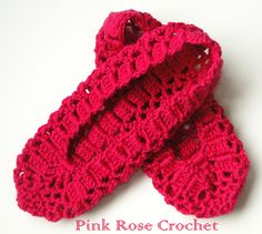 PINK ROSE CROCHET : Sapatilha Pink