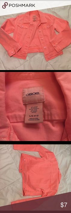 Youth Jacket Same material as a jean jacket. Super fun and bright color! Cherokee Jackets & Coats Jean Jackets