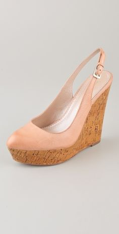 sling back wedge // peach   not sure I  could wear them, but they go with the light peach bag