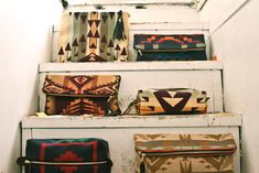 Cute bags made with Pendleton wool.