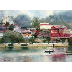 """14.5"""" X 20""""  #giclee #print on watercolor paper with a 1"""" border. Original Sold.  Shipping included. 1 - 2 week production and shipping time.    Copyright April M Rimpo All Rights Reserved. You may share my work with attribution and a link to this source site; other uses are prohibited.    #flores #guatemala  #explorecolorandlight Shop this product here: http://spreesy.com/aprilrimpo/174 