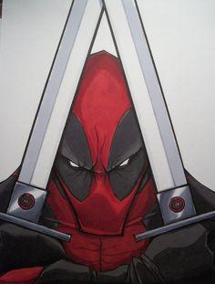 Deadpool Inspiration for Marvel vs Capcom piece Comic Book Characters, Marvel Characters, Comic Character, Comic Books Art, Comic Art, Book Art, Hq Marvel, Marvel Dc Comics, Marvel Heroes