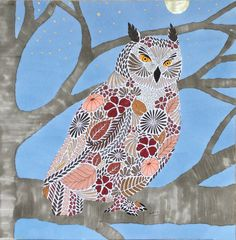 My Colouring Millie Marotta Animal Kingdom Owl Hibou Chouette