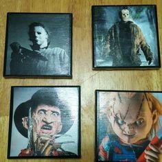 Horror movie villian coasters