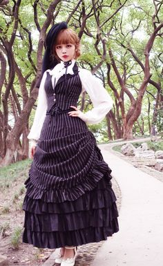 Surface Spell -Gothic Academy- Striped Lolita Vest