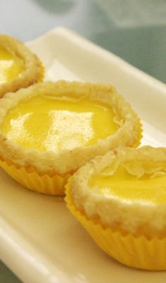 Hong Kong Style Egg Tarts Recipe