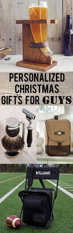 Whether you are searching for gift ideas for your husband, dad, boyfriend brother or best friend, we've searched for unique personalized gifts that are unique, functional, and unforgettable. From engraved Viking beer horns to personalized safety razor and bristle brush shaving sets, these gifts are sure to surprise and to please. These gifts and more can be ordered at myweddingreceptio...