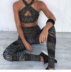 """608 Likes, 11 Comments - L'urv Sportswear (@lurvsportswear) on Instagram: """"That's s wrap - Wild Things Wrap Halter and Legging from @pure.dash. Features include removable…"""""""