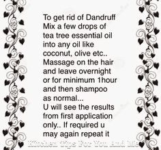 Practical Life Tips For You And Me: Get #Rid of #Dandruff