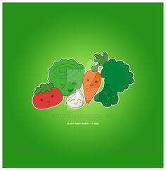 Kawaii Veggie Group by KawaiiUniverseStudio.deviantart.com on @DeviantArt