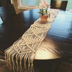 Shaunna with @theculturecove is obsessed with home décor and it shows in her latest piece. So excited to share this gorgeous macramé table runner she made! A lot of hard work and details went into this piece, I'm sure you can tell. Shaunna's custom macramé wall hangings are amazing too so be sure to check out her Instagram page and show this small business some macramé love, peace and happiness. THECULTURECOVE.ETSY.COM