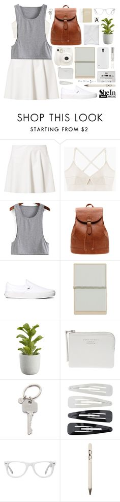 """""""Strange day   SheIn 8"""" by alexandra-provenzano ❤ liked on Polyvore featuring Vero Moda, Base Range, Vans, Fuji, CASSETTE, Crate and Barrel, Paul Smith, Forever 21, Muse and FOSSIL"""