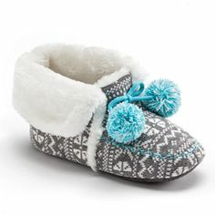 SO Knit Bootie Slippers #KohlsDreamGifts