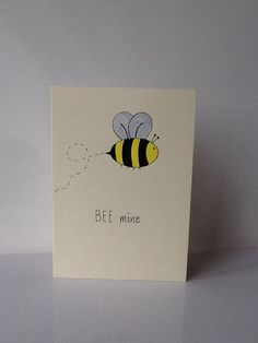 Bee valentines day funny pun card hand made by CassPaperDesigns, - Block B - Valentinstag Valentines Day Funny, Valentine Day Cards, Happy Birthday Wishes Photos, Valentine's Day Quotes, Block B, Planner Doodles, Pun Card, Bee Cards, Paint Cards