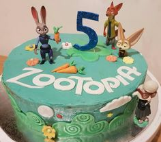 Zootopia cake for a little boys 5th birthday!