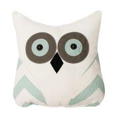 Tootsie Owl Pillow Gray