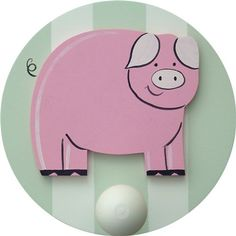 On Sale Piggie Wall Peg - Set of Two