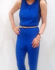 Royal Blue Sleeveless Jumpsuit. Occasion Wear, Spring Summer 2016, Ss16, Royal Blue, Casual Outfits, Jumpsuit, Boutique, How To Wear, Fashion Design