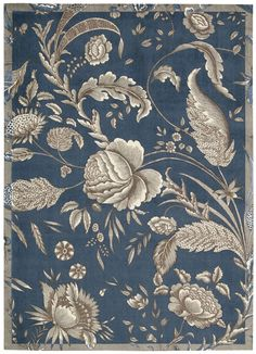 Waverly Artisanal Delight Fanciful Indigo Area Rug By Nourison WAD07 IND (Rectangle)