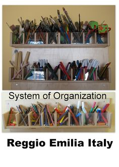 Reggio Emilia Art Materials Organization System