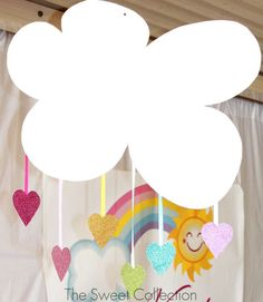 Cute decorations at a Rainbow Unicorn Birthday Party! See more party ideas at CatchMyParty.com!