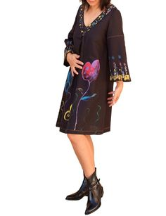 Plus size/Linen and cotton ladies wear/womens tunic by Danideng, $89.00