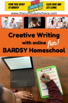 Bardsy Homeschool online program: leads students step-by-step through a creative writing process teaches key elements of great storytelling includes many short videos to explain topics teaches with fantastic graphics — super for visual learners provides oodles of story templates and ideas is highly interactive and creative (super important for the topic, right?) and so much more! #homeschoolreview #thecurriculumchoice