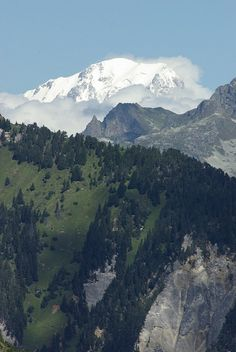 View of Mont-Blanc, Switzerland. The ancestral home of sorcerer, Marval Agyk.