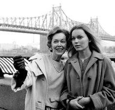 Maureen O'Sullivan with daughter Mia Farrow…