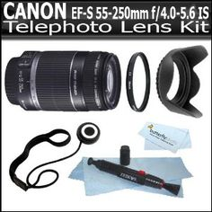 Canon EF-S 55-250mm f/4.0-5.6 IS Image Stabilizer Telephoto Zoom Lens for Canon Digital SLR Cameras + Vivitar Series 1 (Ultra Violet) Multi-Purpose Glass Filter + Lens Hood + Lens Pen Cleaning Kit + Lens Cap Keeper + ButterflyPhoto MicroFiber Cloth (Electronics)  http://www.amazon.com/dp/B004BP2ALM/?tag=iphonreplacem-20  B004BP2ALM