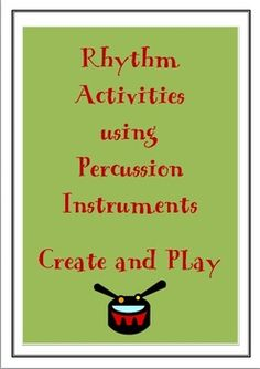 Create and Perform with Percussion Instruments. Here is a fun activity for the class while reinforcing the concepts of beat and rhythm.   www.teacherspayte...
