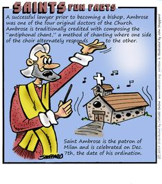 """Happy Feast Day of St Ambrose The """"Reluctant"""" Bishop and Doctor of the Church –… Catholic Saints, Roman Catholic, Happy Feast Day, St Ambrose, Catholic Online, All Souls Day, All Saints Day, Religious Education, Blessed Mother"""