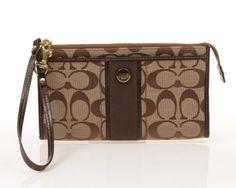 Coach Signature Stripe Zippy Wallet 49139 - http://handbagscouture.net/brands/coach/coach-signature-stripe-zippy-wallet-49139/