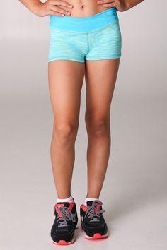 Aqua Lime Shorts #sylviap #sylviapgymnastics #gymnastics #activewear #trainingwear #sportswear #athleticswear #love #inspo #train #friends #models #girls #sportswear #training #gymnast #leotard #leo #gym #design #pattern #unique #girl #buy #purchase #dance #dancewear #shorts #bikepants