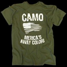 What a clever military shirt. Use heat transfer materials and a heat press to create your own military pride designs.