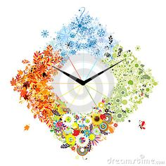 Fancy Clock, 5d Diamond Painting, Clock Wall, Wall Art, Four Seasons, Sewing Crafts, Needlework, Mosaic, Arts And Crafts