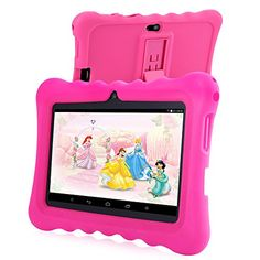 GearBest GBtiger 7.0 inch Black WiFi GPS Bluetooth Capacitive Screen Android 4.4 Kids Tablet PC with 8GB ROM (Rose)