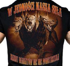 Motyw kibicowski na koszulce 'Cerber' ---> Streetwear shop: odzież uliczna, kibicowska i patriotyczna / Przepnij Pina!