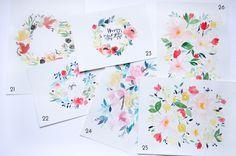 Un an d'aquarelles fleuries