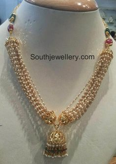 Pearls Necklace latest jewelry designs - Page 20 of 79 - Indian Jewellery Designs Antique Jewellery Designs, Beaded Jewelry Designs, Gold Jewellery Design, Bead Jewellery, Pearl Jewelry, India Jewelry, Diamond Jewelry, Jewelery, Pearl Necklace Designs