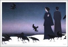 Will Barnet (b.1911), Winter Sky (1985), Portland Museum of Art, Maine