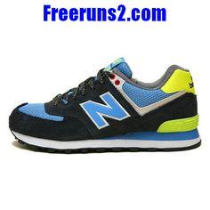 best sneakers 3fa63 fc506 Achat Vente New Balance WL574YCN Yacht Club amoureux Noir Jaune Bleu Chaussures  Femmes NewBalance574Femmes