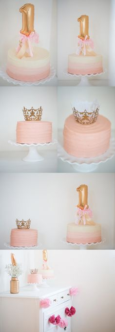 pink and gold \\ first birthday