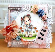Sticky With Icky: Lovely Hanglar & Sweet Magnolia DT Card