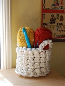 Huge crocheted basket