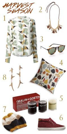 Harvest Season, Autumn decor and fashion via The Walkup blog featuring J.Crew, Modcloth, Malin + Goetz, Karen Walker, Vans and more.