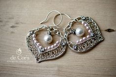 DIY Jewelry Pattern - Bridal SilverLace Earrings, Wired Chinese Knot Jewelry Tutorial, DCH019, The Love Knot